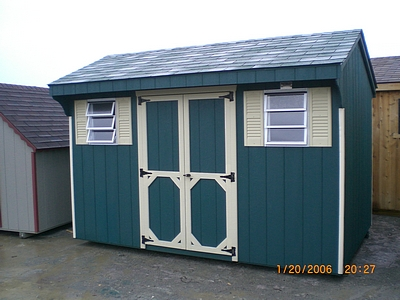 Saltbox storage shed add up personality in your garden for Quaker barn home designs