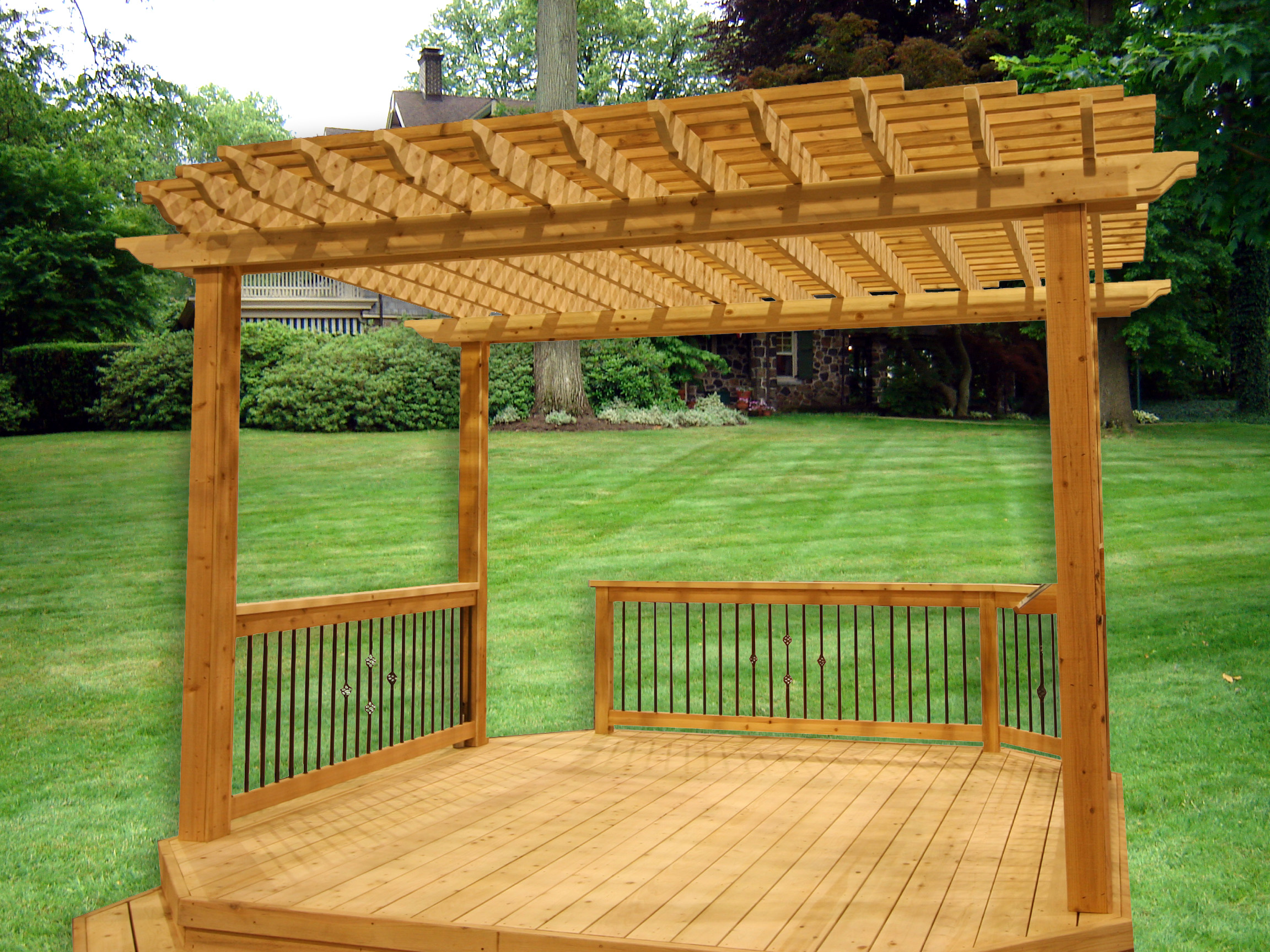 Pergola waterloo structures storage sheds sheds for sale for Pergola designs